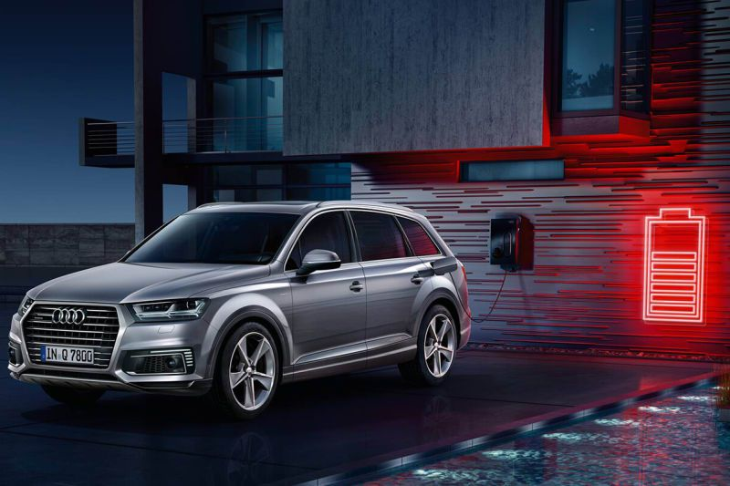 The new Audi e-tron on charge