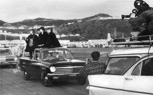 Beatles in car 1960s