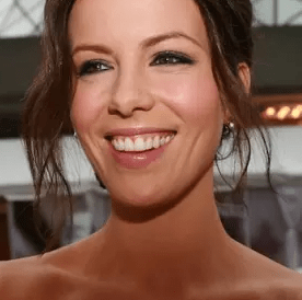 Kate Beckinsale smiling