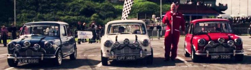 3 Mini Coopers from the film The Italian Job