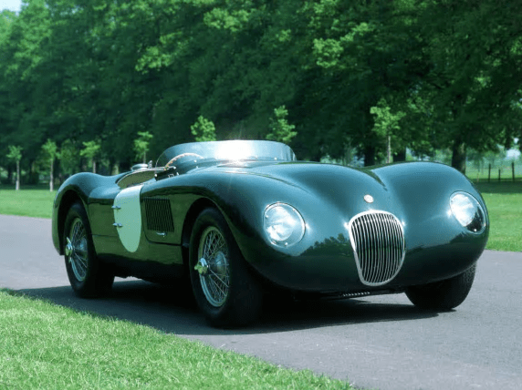 Jaguar C type racing green