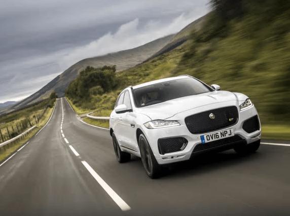 Jaguar F Pace white front
