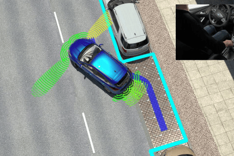 Diagram of car reverse parking technology