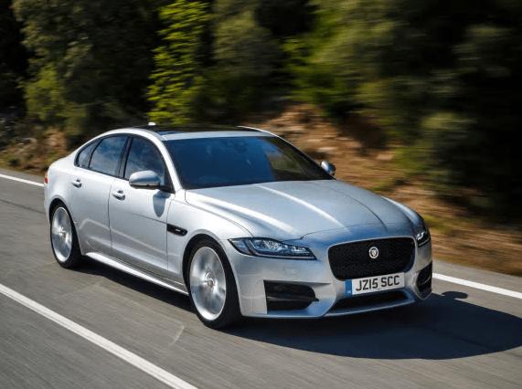 Jaguar XF silver front