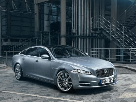 Jaguar XJ silver front