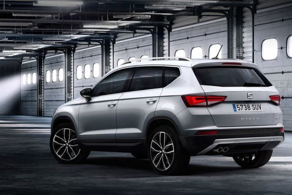 White new SEAT Ateca from the back
