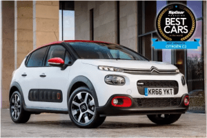 Top Gear Best Cars white Citroen C3 Aircross two thirds front on