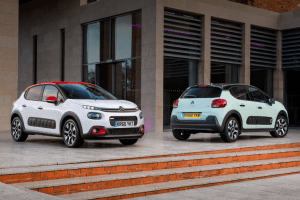 Citroën C3 in White and Almond Green
