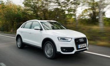 Audi Q3 in white side front