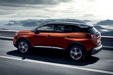 Peugeot 3008 in orange side view