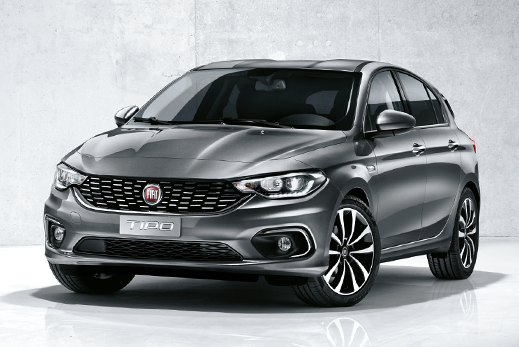 New Fiat Tipo hatchback car in grey