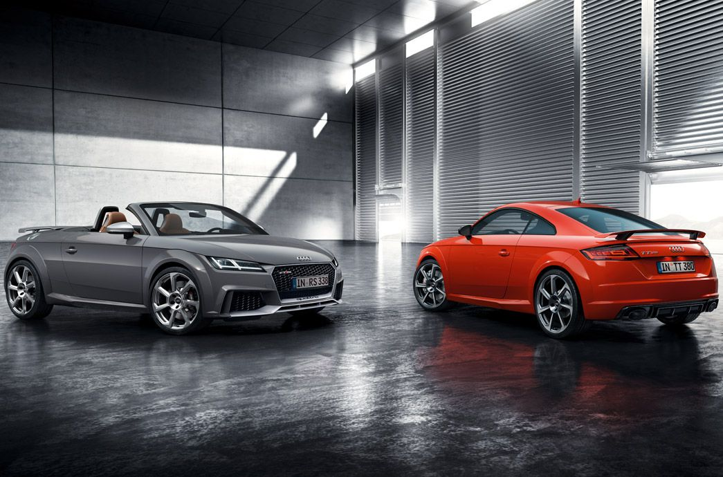 Audi TT RS Coupe and Cabriolet range