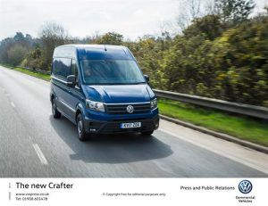 Volkswagen Crafter Panel Van on the road