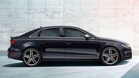 Audi A3 saloon in black
