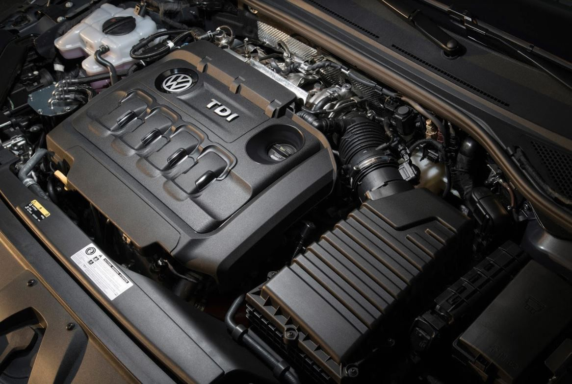 Volkswagen TDI engine close up
