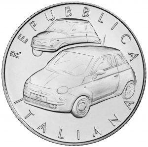 Fiat 500 5 Euro coin