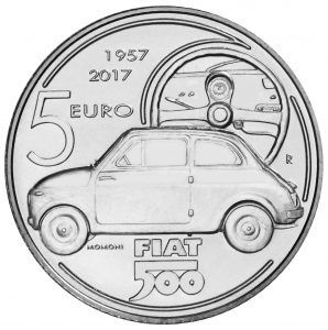 Limited-edition Itailian coin to mark 60th anniversary of Fiat 500
