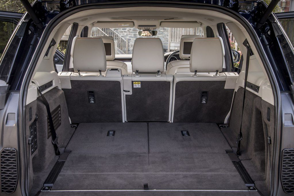 View of Range Rover boot