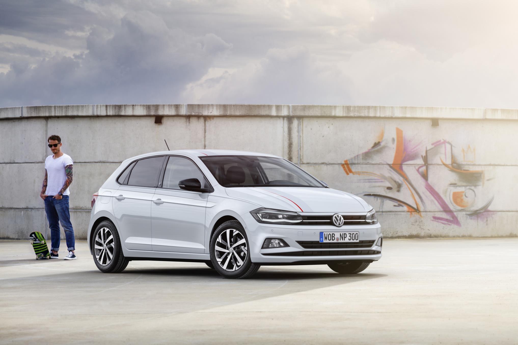 White 5 door Volkswagen Polo Beats special edition