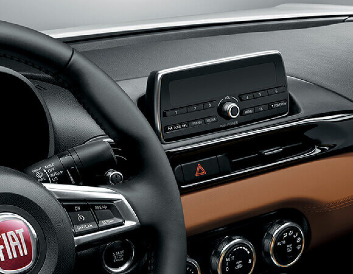 Spider 124 interior brown leather
