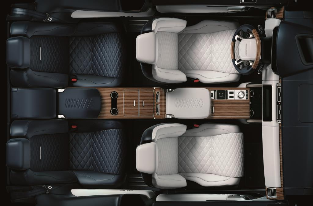 The incredibly luxurious interior of the Range Rover SV coupe
