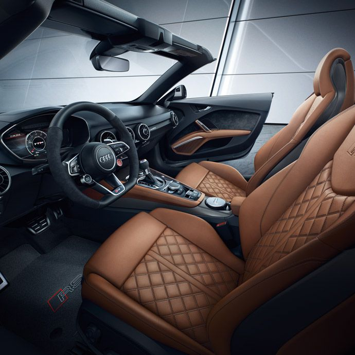 Interior of the Audi TT RS roadster