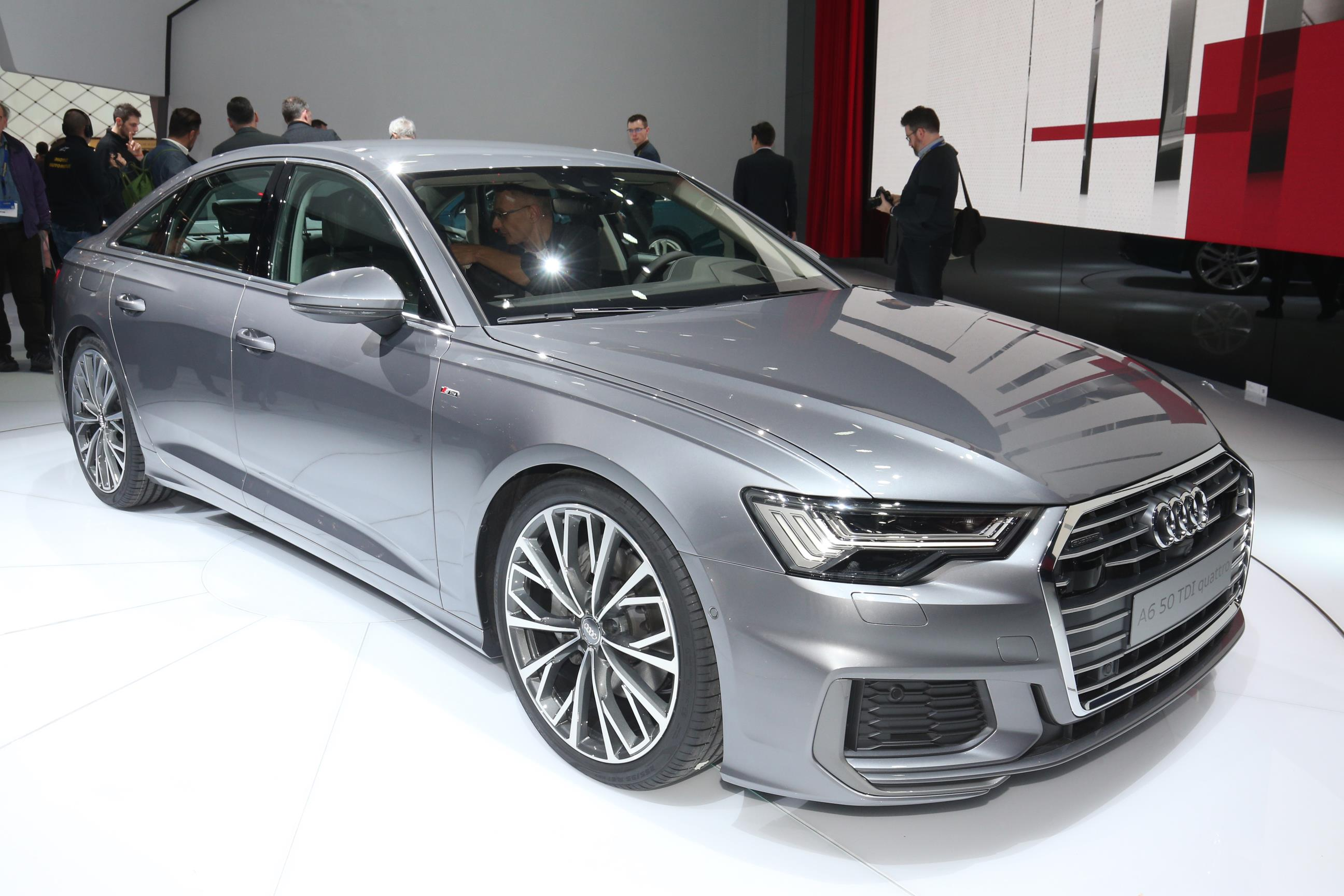 New Audi A6 making its appearance at the Geneva Motor Show