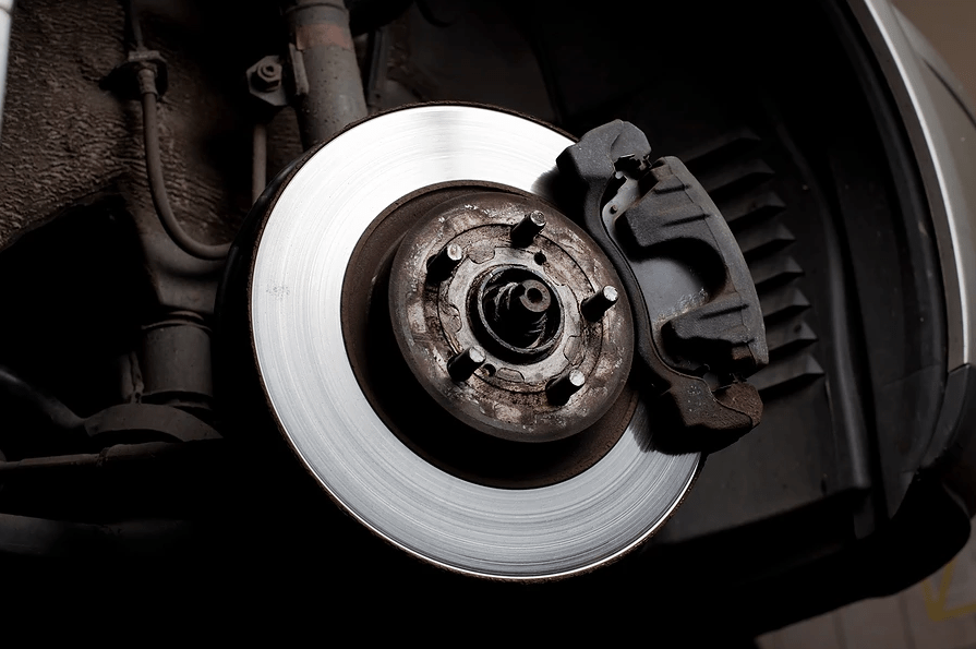 Brake disc uncovered