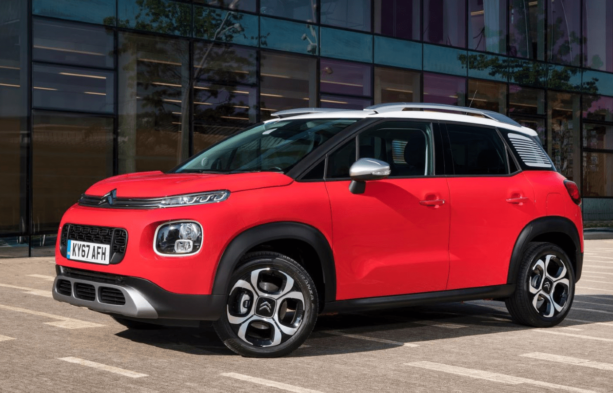 Citroen C3 Aircross from the side view