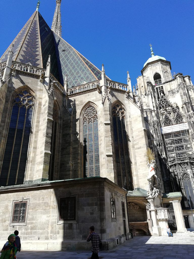 The majecty of St Stephen's cathedral in Vienna.