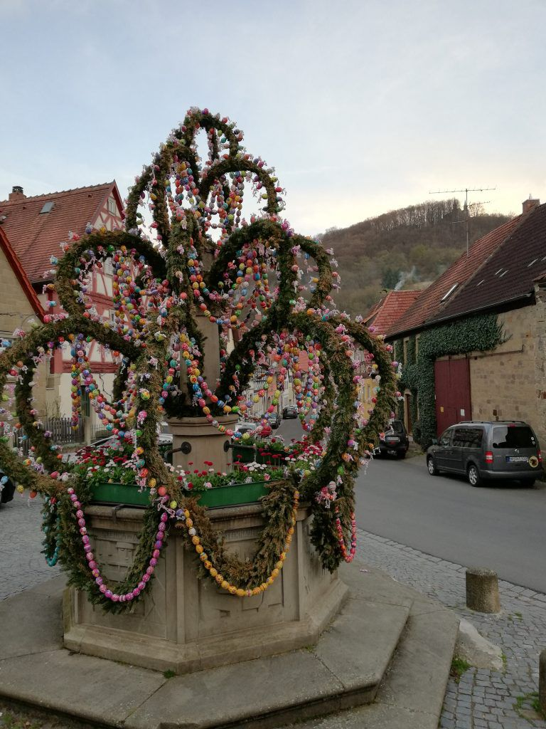 Easter well-dressing in Zeil-am-Main