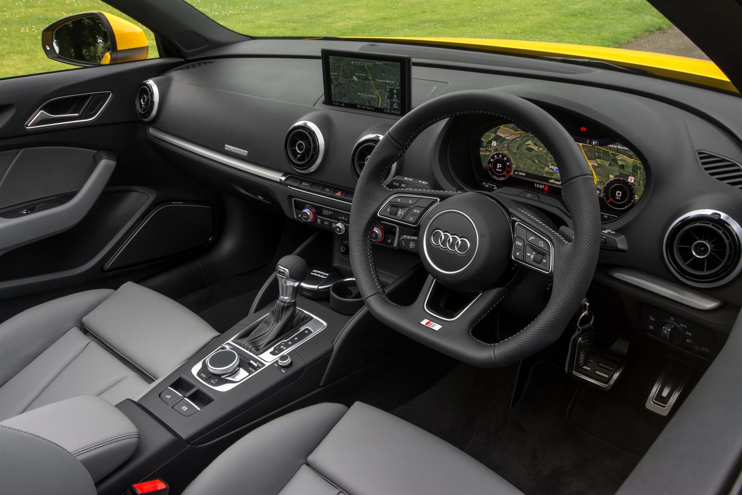 Grey front interior of used Audi A3 cabriolet