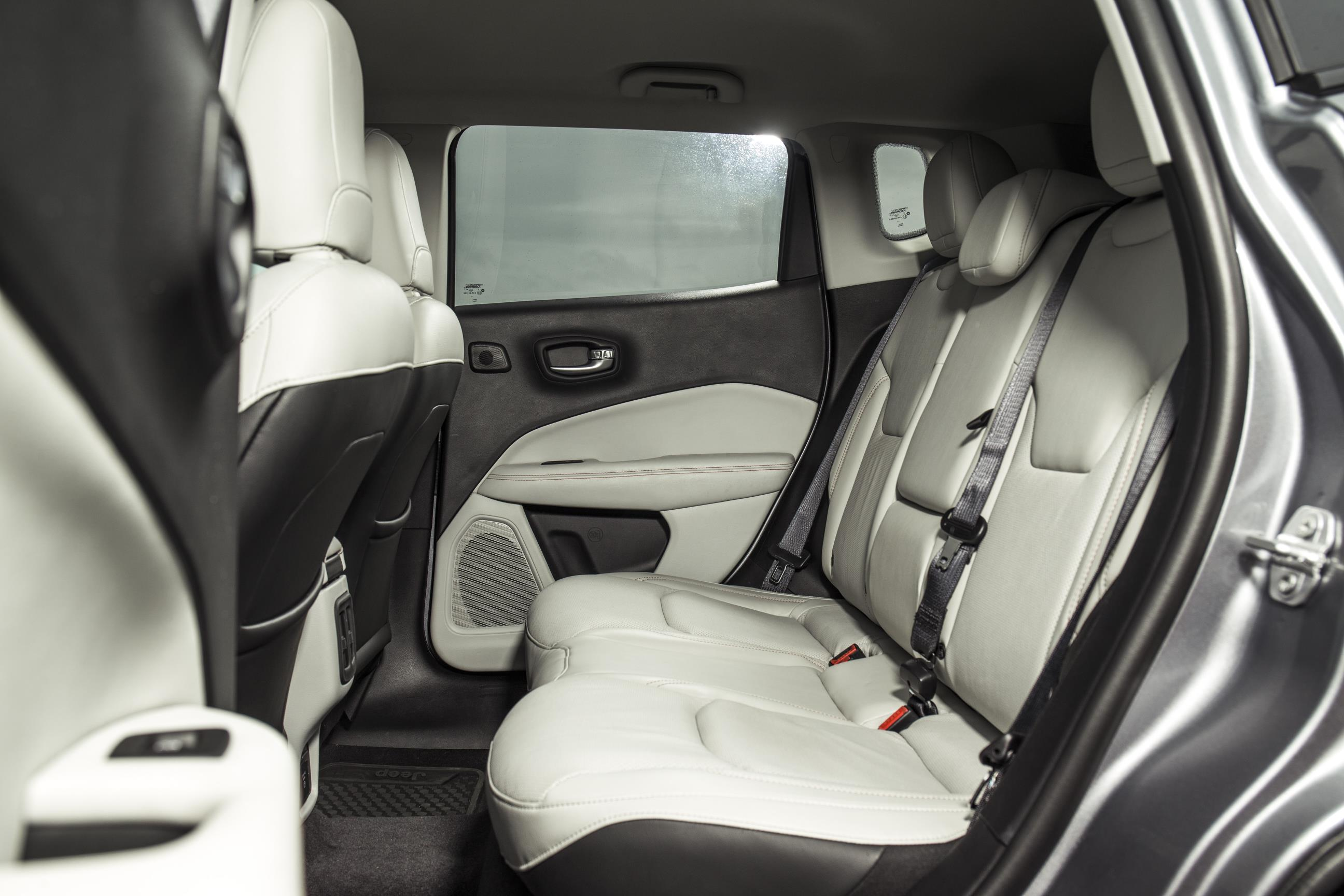 Rear interior of the Jeep Compass