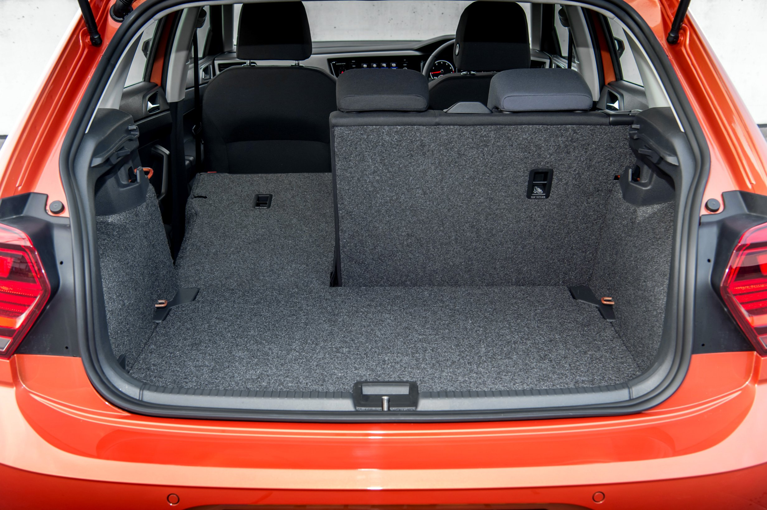 The capacious boot of the new Volkswagen Polo