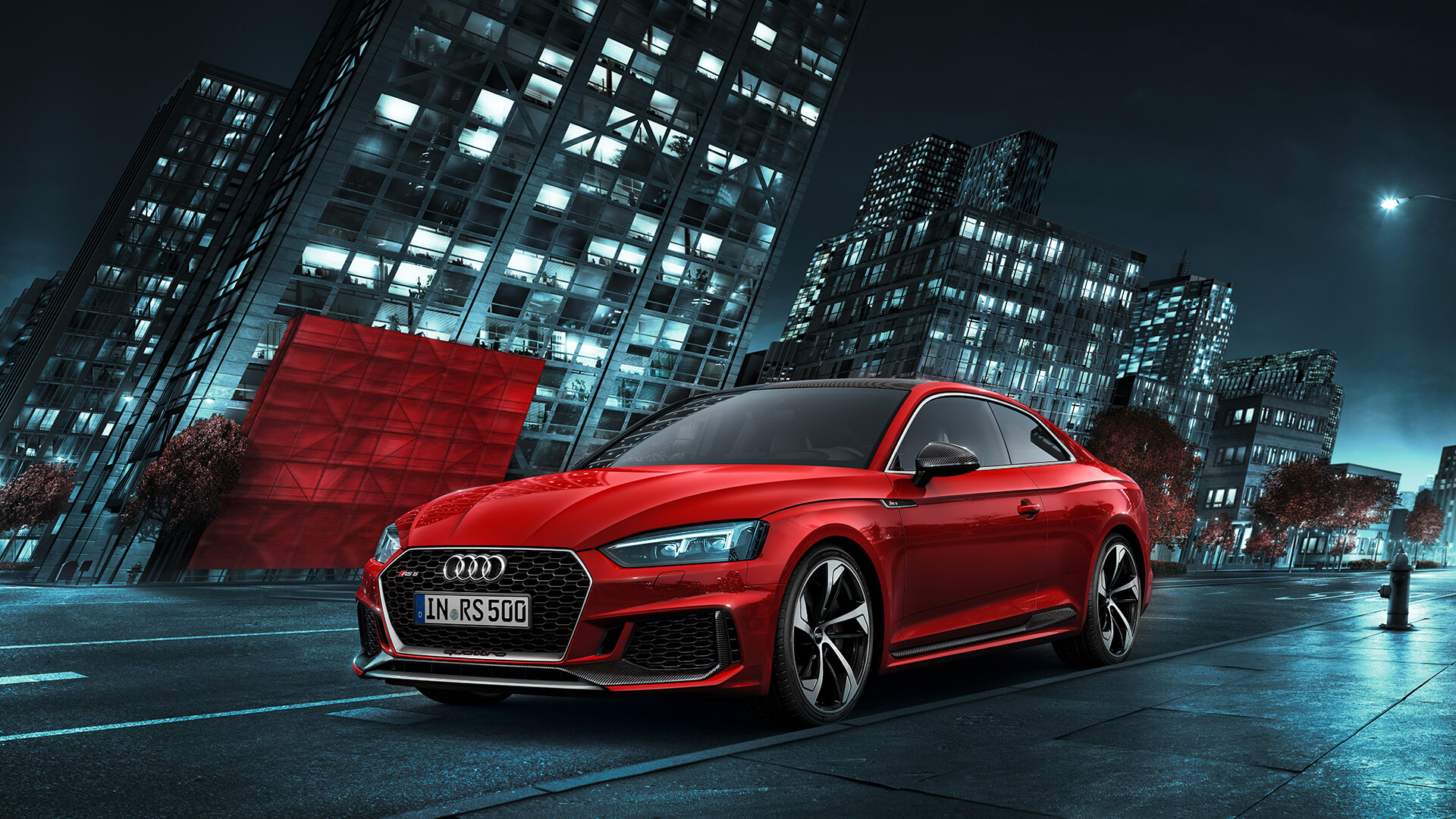 Beautiful new Audi RS5 coupe in red