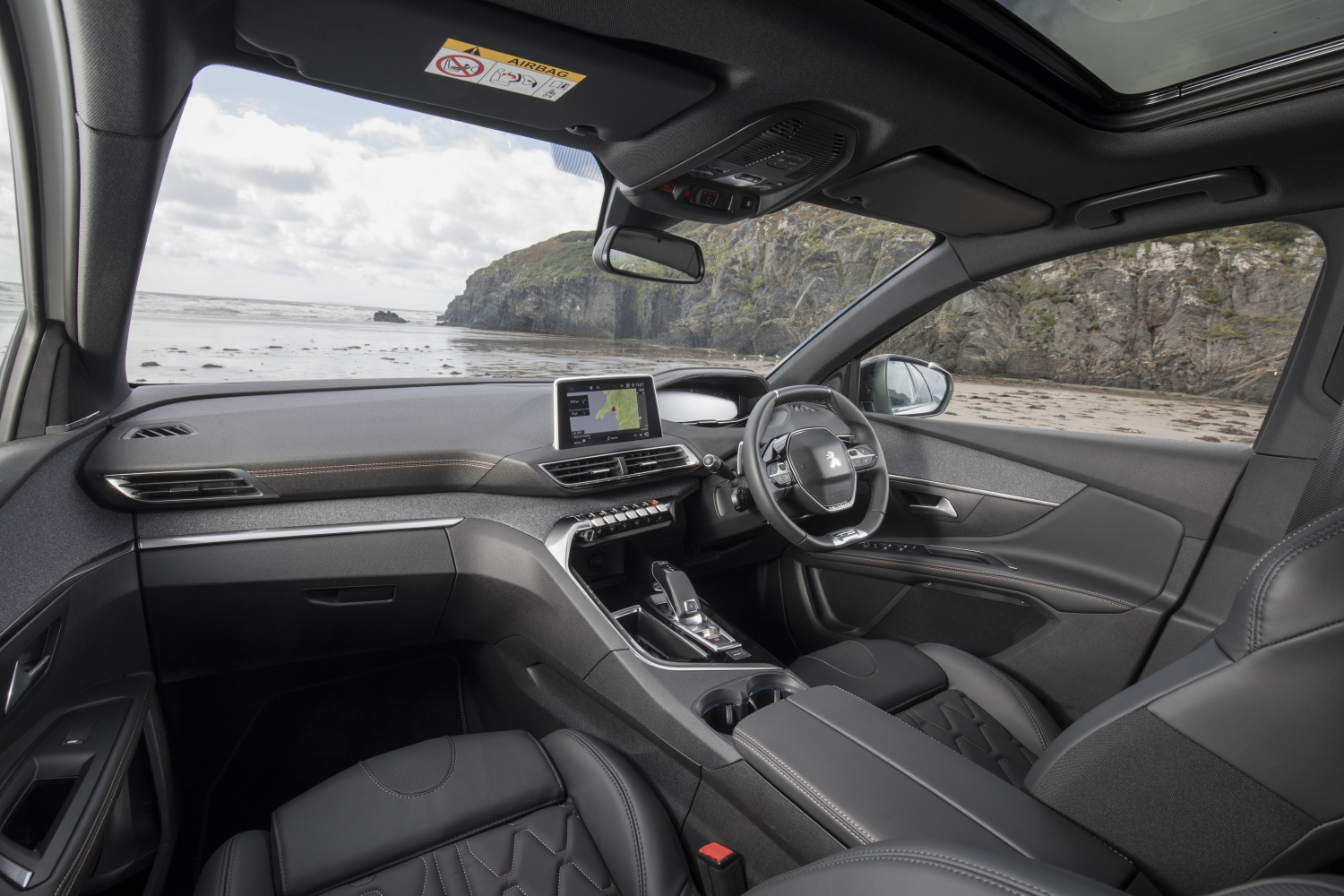 Interior of the Peugeot 5008