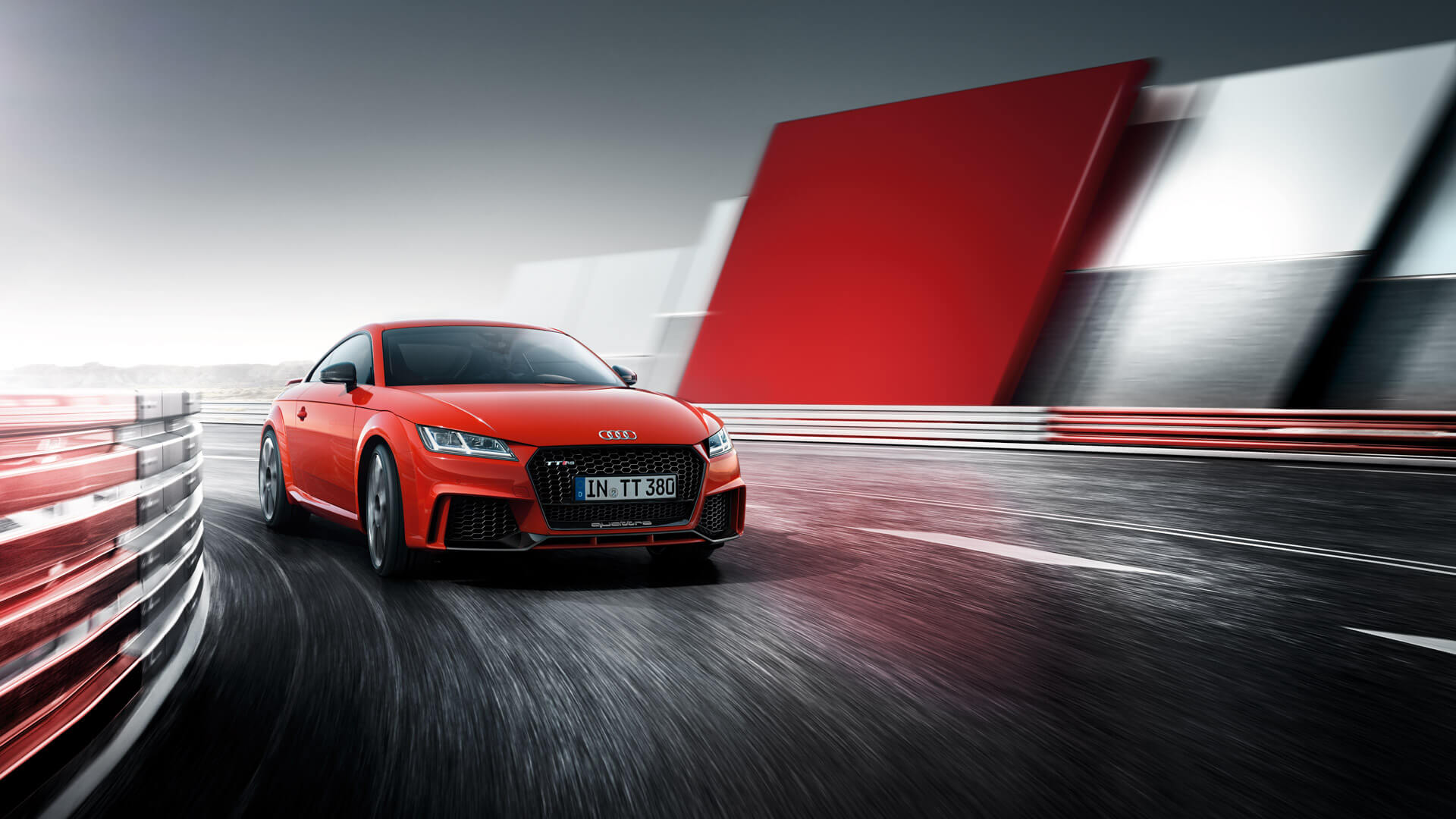 Audi TT RS coupe on the track