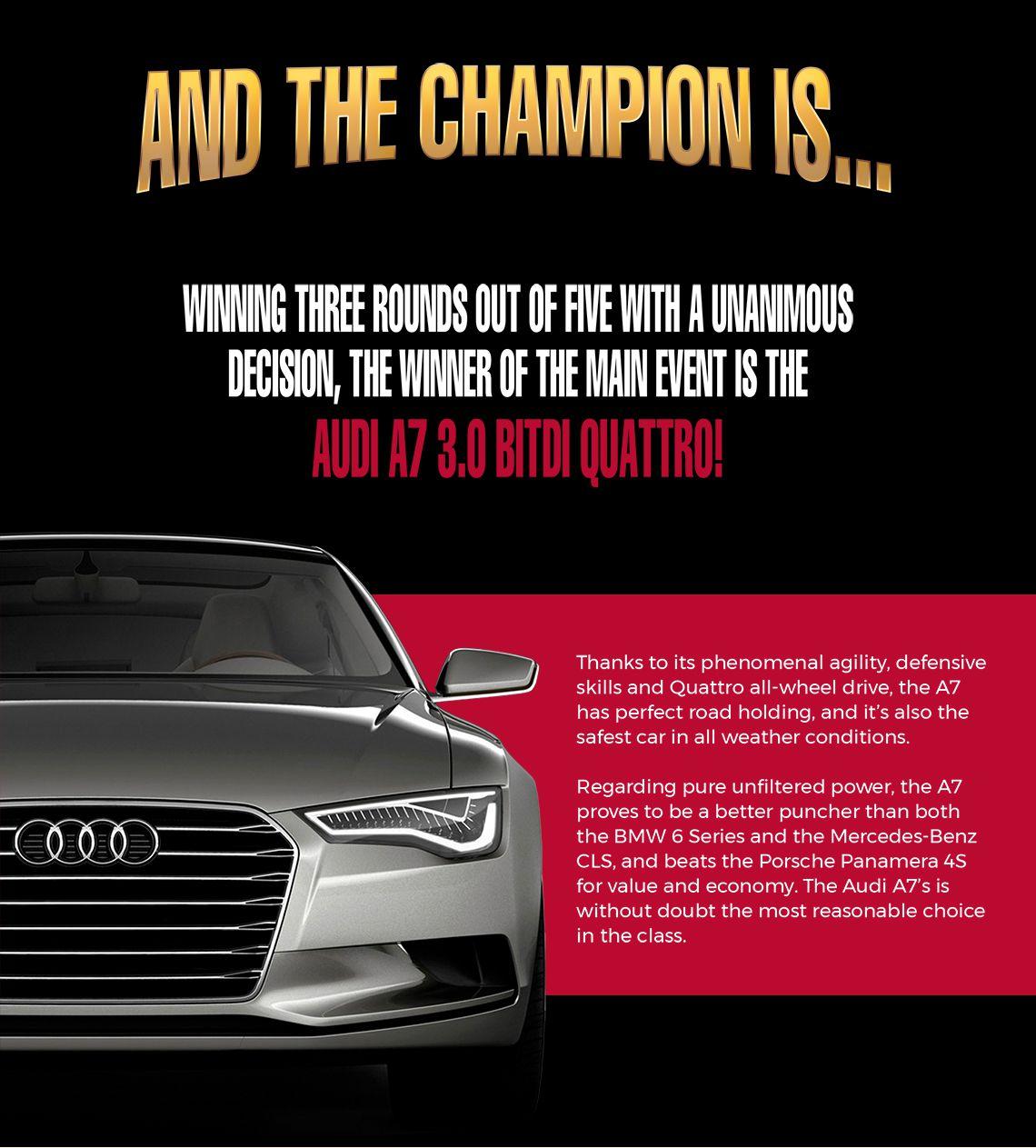 Audi A7 3.0 BiTDI Quattro champion