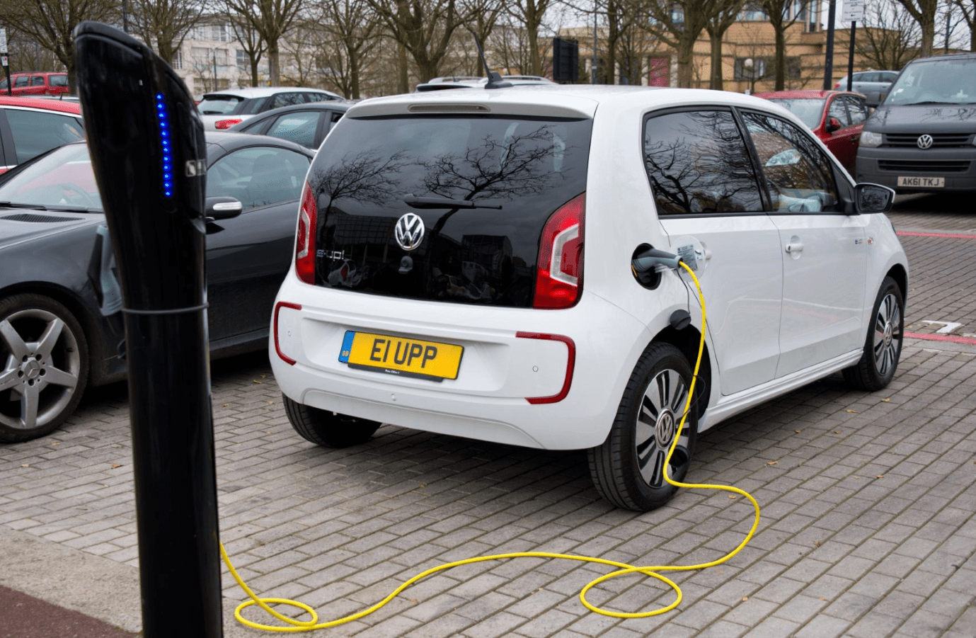 Volkswagen e-up! on charge