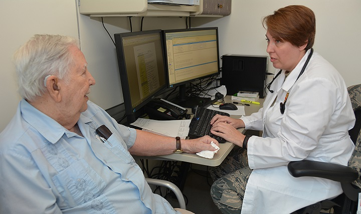 Doctor having a private consultation with a patient