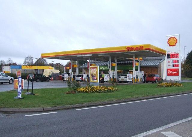 Petrol station forecourt